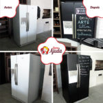 Envelopamento de geladeira side-by-side.