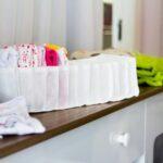 Workshop de organização de roupas de bebê